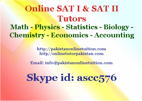 Online SAT Tutors Pakistan