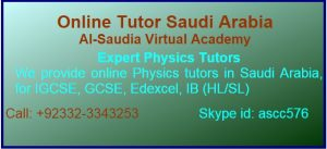 Online Physics Tutor Pakistan