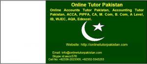 Online Accounts Tutor Pakistan