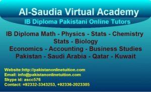 Online Edexcel IGCSE Mathematics Tutor Pakistan