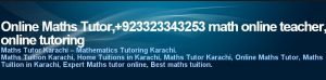 Online Math Tutor Pakistan