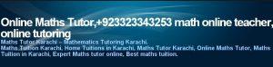 Online Math Tutor Pakistan