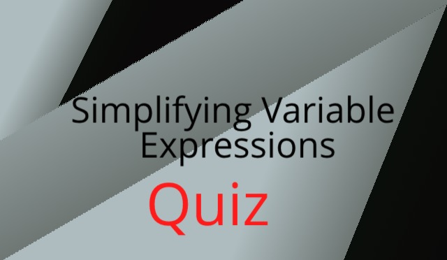 Simplifying Variable Expressions like terms Grade 6
