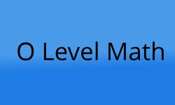 O Level Math