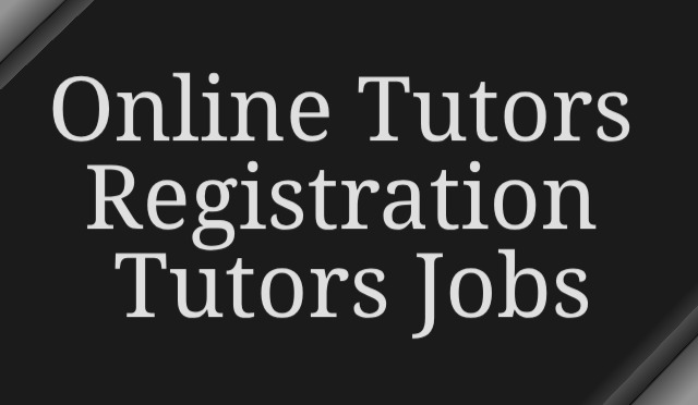 Online Tutors Registration